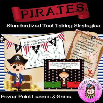 PIRATES Standardized Test Taking Strategies Lesson & Game Power Point