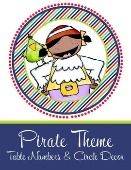 PIRATES - Table Numbers and Circle Decorations