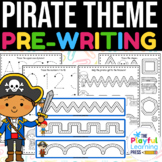 PIRATES pre-writing pack | preschool tracing pages | PENCI