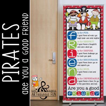 PIRATES - Classroom Decor: LARGE BANNER, FRIENDS