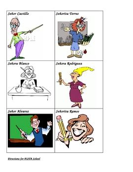 PISTA (Clue) Game School Vocabulary