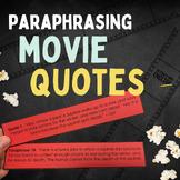 Anti Plagiarism Paraphrasing Activity with Movie Quotes