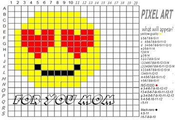 PIXEL ART---EMOTICON----MOTHER'S DAY