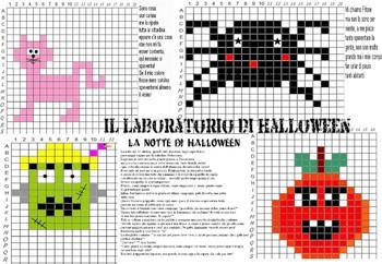 PIXEL ART LABORATORIO CON STORIA IN LINGUA ITALIANA, SPECIALE HALLOWEEN