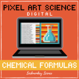 PIXEL ART SCIENCE: Chemical Formula Hidden Picture DIGITAL