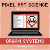 PIXEL ART SCIENCE: Human Body Systems Hidden Picture DIGIT