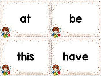 Sight Words Flashcards - Fry 1 to 100