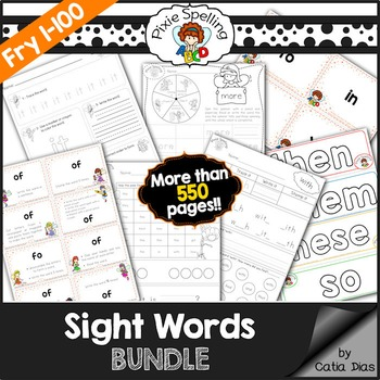 Sight Words BUNDLE - Fry 1 to 100