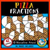 PIZZA FRACTIONS CLIPART (FOOD) MATH CLIP ART