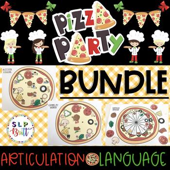 PIZZA PARTY, BUNDLE (ARTICULATION & LANGUAGE) SPEECH & LANGUAGE THERAPY