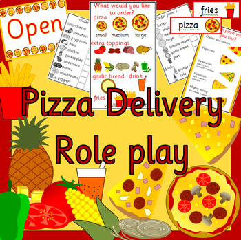 PIZZA RESTAURANT/ DELIVERY role play pack- dramatic play