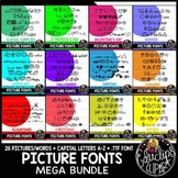 Picture Fonts For The Year Mega Bundle {Educlips Clipart}