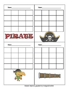 PIrate Theme Sticker Charts