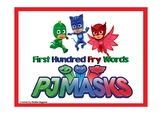 PJ Mask Themed Fry First Hundred Words Card Game and Board Game