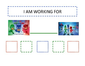 PJ Masks Themed Token Board and Tokens