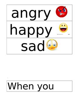 Pre K Feelings Social Emotional Activity Scenario Cards