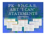 "PK - 5 Elementary NCAS Art Standards ""I Can"" Statements"
