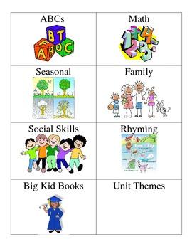 PK Book Bin Labels