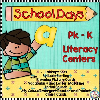 Back To School Literacy Centers ~ PK K