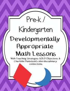 Pre-k / K Math Lesson Plans aligned with teaching Strategi