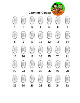 PK/K Student Friendly Tracking: Counting Objects-- FREEBIE!