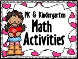 PK & Kinder Math Activities (Valentines)