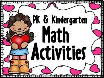 PK & Kinder Math Activities (Valentines)