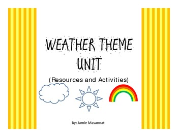 PK Weather Theme Activities and resources