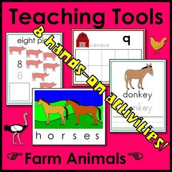 Farm Animal Math and Literacy Teaching Tools