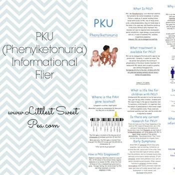 PKU (Phenylketonuria) Informational Flier