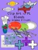 PL Blends Clip Art Phonics Semi Realistic Clip Art Color a