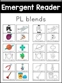 PL Blends Emergent Reader - Phonics Literacy Center
