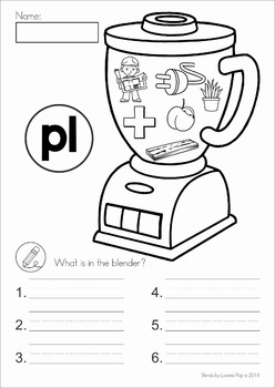 Blends Worksheets and Activities - PL