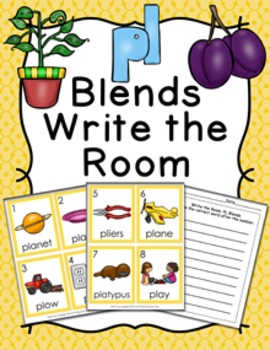 PL Blends Write the Room Activity