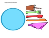 PLACE SETTING CLIP ART- FOR FRENCH/SPANISH/ESL