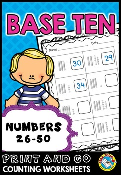 PLACE VALUE WORKSHEETS (NUMBERS 26 TO 50 PLACE VALUE PRINTABLES) TENS AND ONES