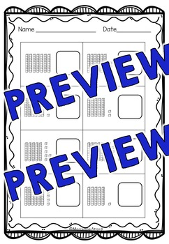 PLACE VALUE PRINTABLES: NUMBERS 51 TO 75 PLACE VALUE WORKSHEETS: TENS AND ONES