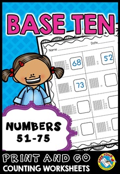 PLACE VALUE PRINTABLES: NUMBERS 51 TO 75 PLACE VALUE WORKS