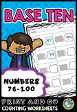PLACE VALUE WORKSHEETS 1ST GRADE (NUMBERS 76 TO 100) TENS AND ONES ACTIVITIES