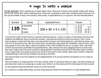 PLACE VALUE: 4 Ways to Write a Number