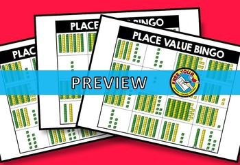 PLACE VALUE GAME: PLACE VALUE ACTIVITIES: NUMBERS TO 100 PLACE VALUE BINGO GAME