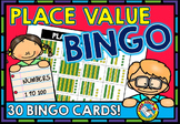 PLACE VALUE GAME 1ST GRADE BINGO BASE TEN BLOCKS ACTIVITY NUMBERS TO 100
