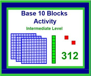 PLACE VALUE BLOCKS Manipulative Activity