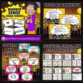 Place Value Activities BUNDLE (Task Cards and Worksheets)