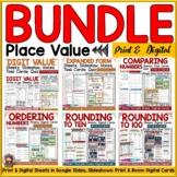 PLACE VALUE BUNDLE: PRINT & DIGITAL DISTANCE LEARNING GOOG