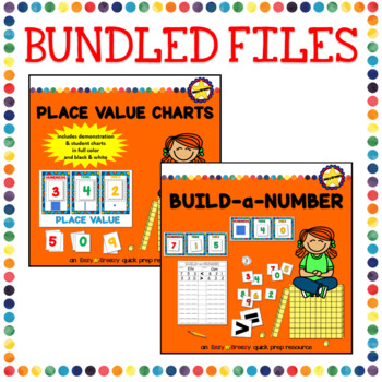 PLACE VALUE CHARTS and BUILD-A-NUMBER BUNDLE
