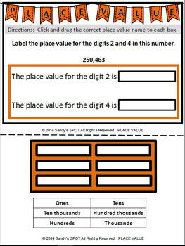 TEI Technology Enhanced Item Printable Practice PLACE VALUE VA SOL 3.1