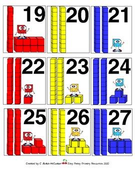 PLACE VALUE Calendar Number Squares and Math Center Pieces