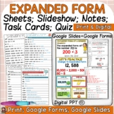 PLACE VALUE EXPANDED FORM PRINT & DIGITAL GOOGLE CLASSROOM