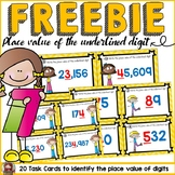 PLACE VALUE OF THE UNDERLINED DIGIT FREEBIE